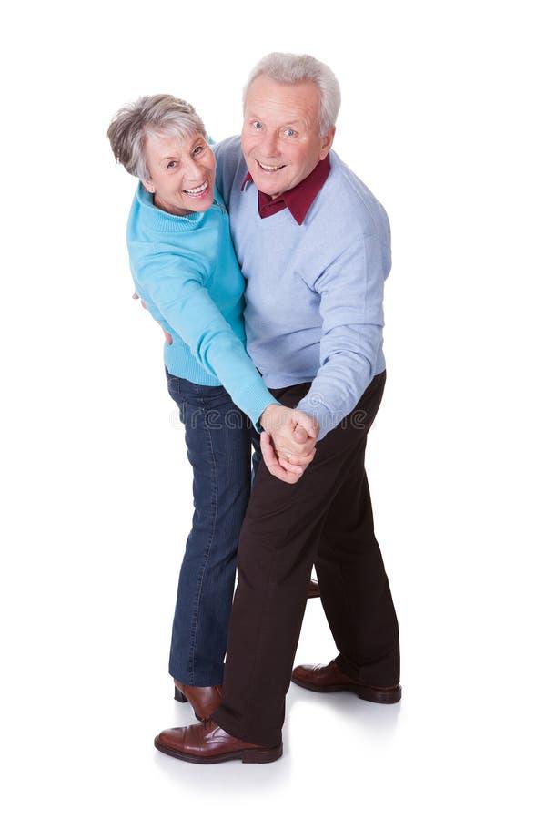 Retrato da dança superior dos pares imagem de stock royalty free