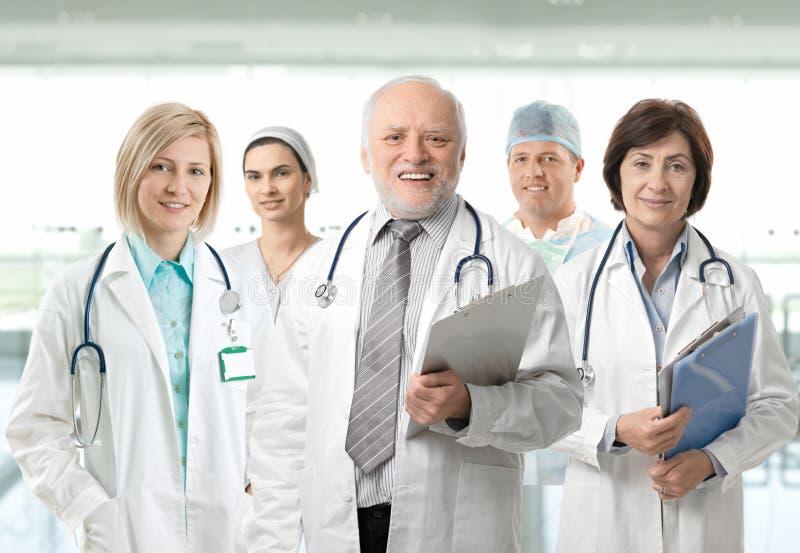 Retrato da equipe de profissionais médicos imagem de stock royalty free