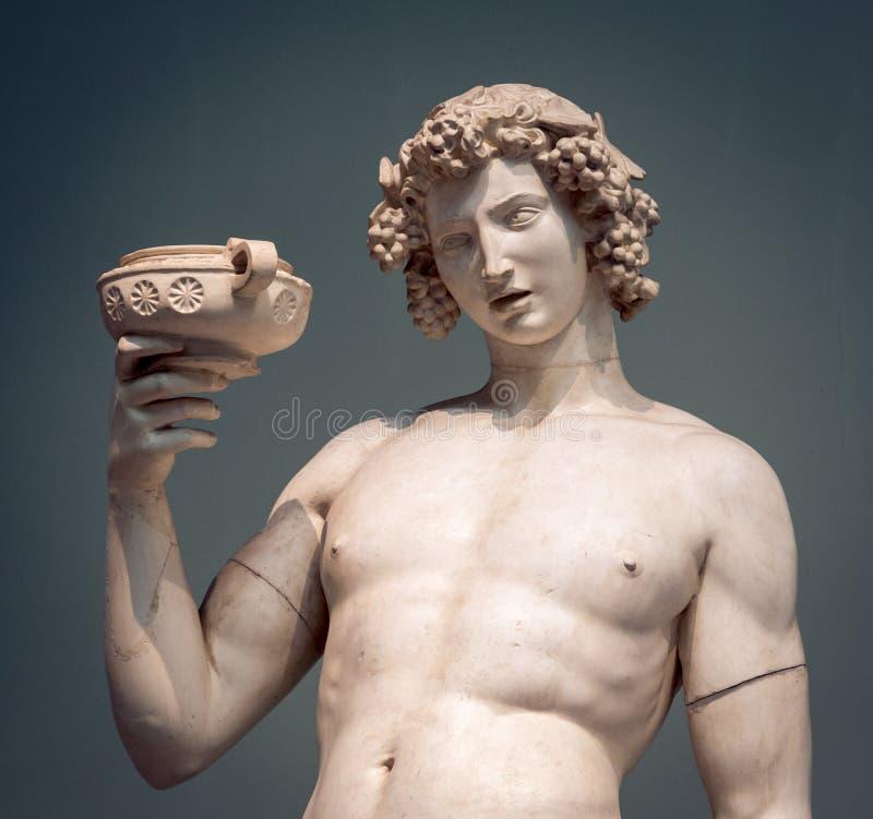 Retrato da estátua de Dionysus Bacchus Wine fotos de stock