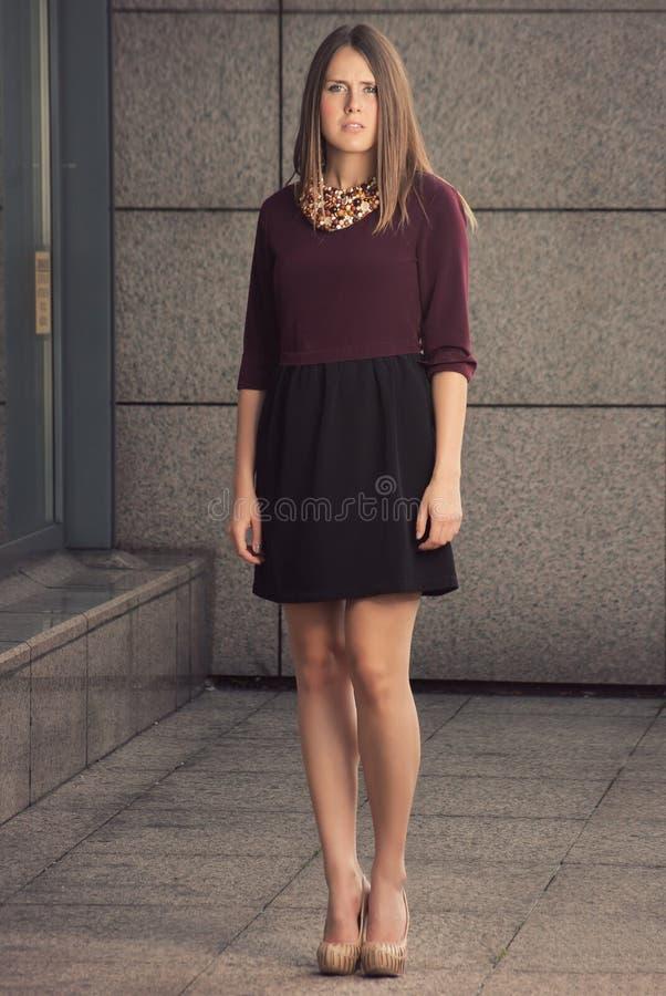 Retrato da fêmea da forma da parte alta fotos de stock royalty free
