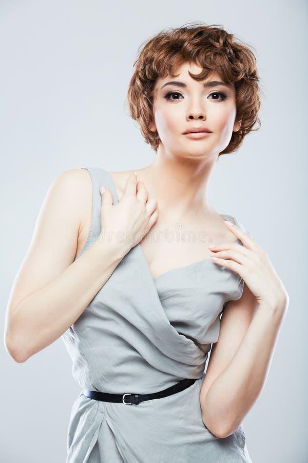 Retrato da fêmea do estilo do instantâneo da forma imagens de stock royalty free