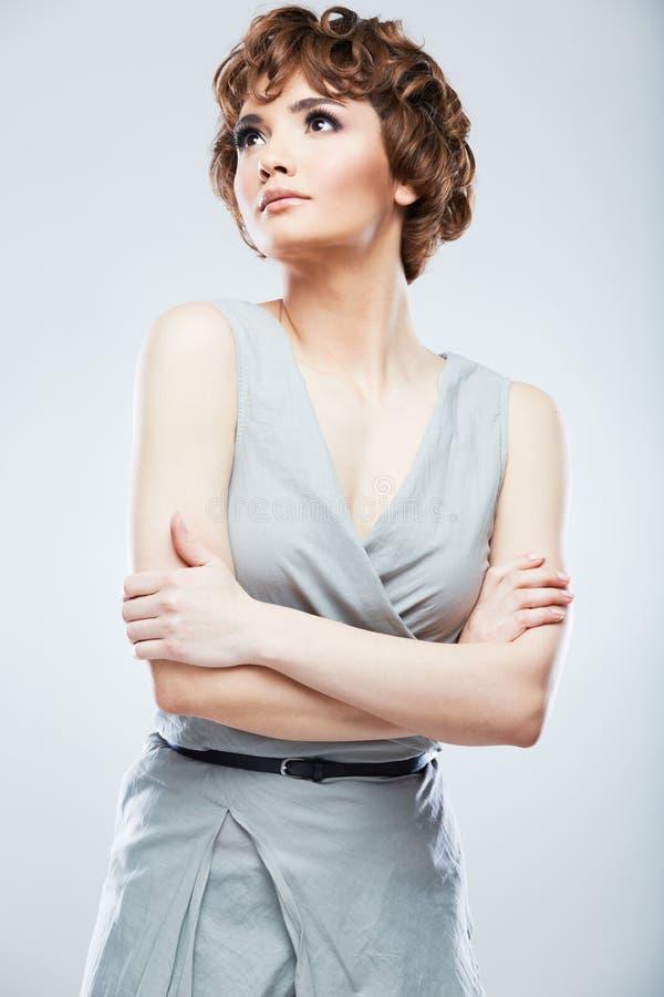 Retrato da fêmea do estilo do instantâneo da forma fotografia de stock