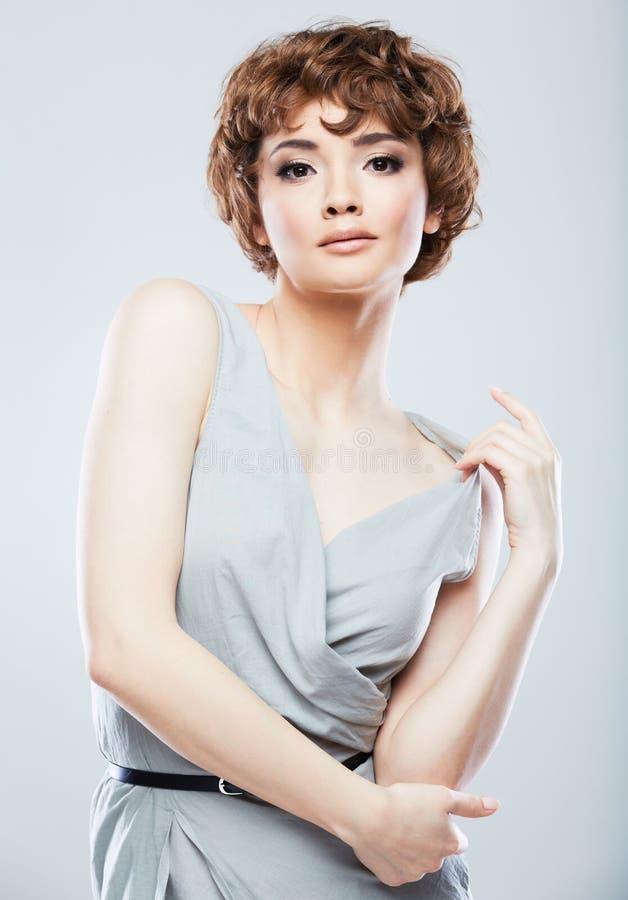 Retrato da fêmea do estilo do instantâneo da forma fotos de stock royalty free