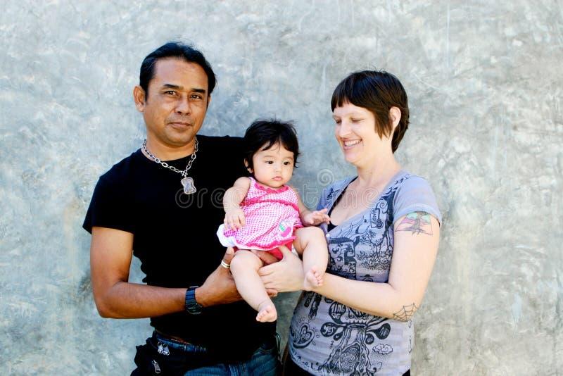 Retrato da família. imagens de stock