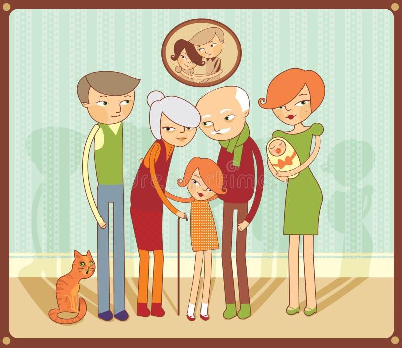 Retrato da família ilustração do vetor
