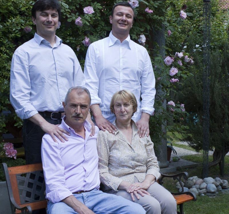 Retrato da família imagem de stock