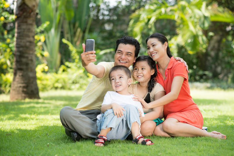 Retrato da família foto de stock
