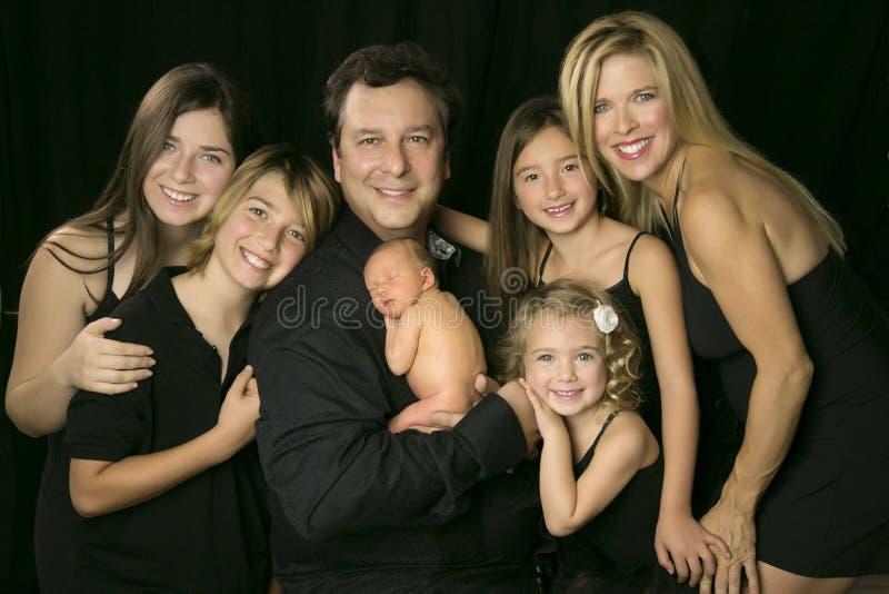 Retrato da família fotografia de stock royalty free