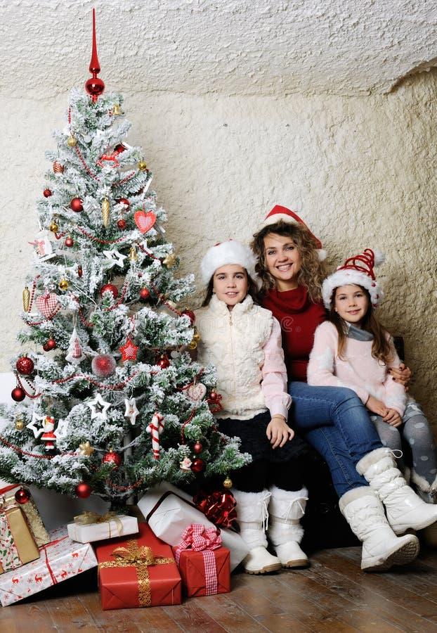 Retrato da família do Natal fotos de stock