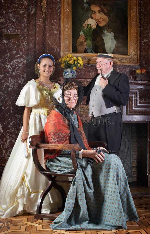 Retrato da família do Victorian fotografia de stock