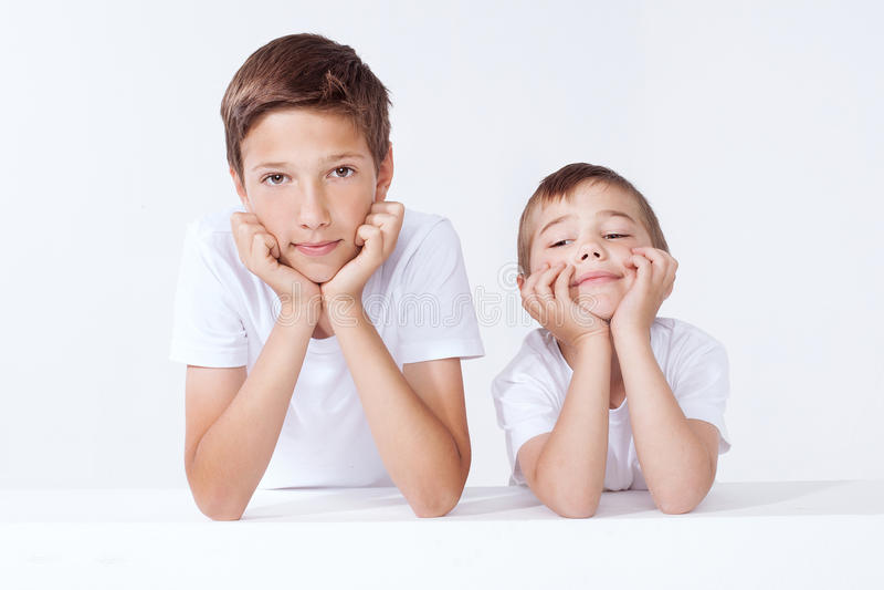 Retrato da família, dois irmãos foto de stock royalty free