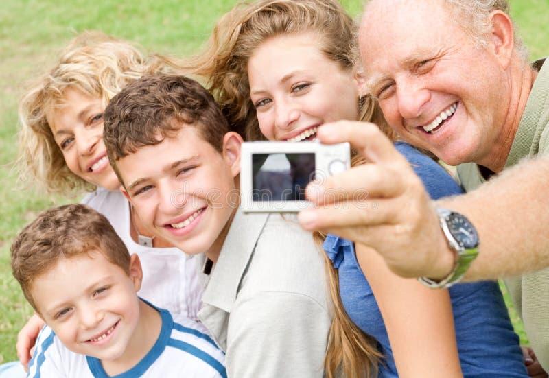 Retrato da família extensa fotos de stock