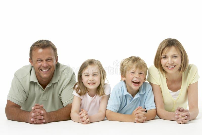 Retrato da família feliz fotos de stock royalty free