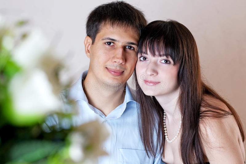Retrato da família feliz nova fotos de stock royalty free