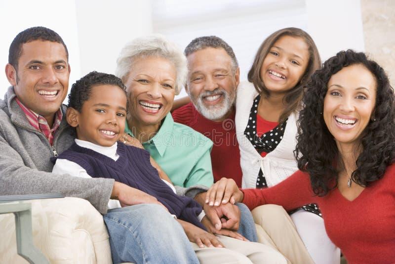 Retrato da família no Natal foto de stock royalty free