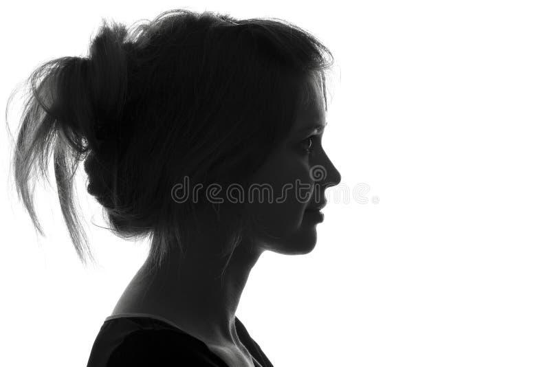 Retrato da forma da silhueta de uma mulher fotografia de stock royalty free