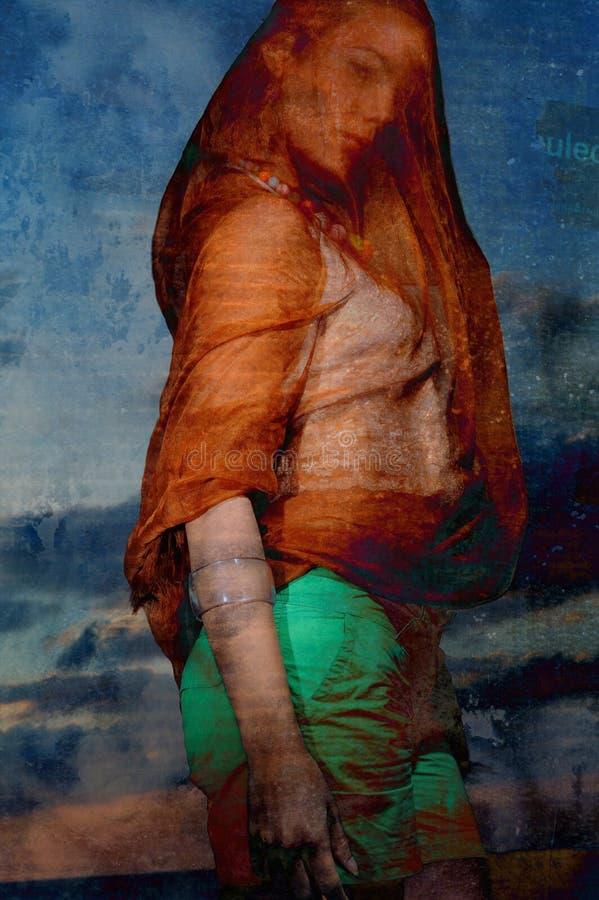 Retrato da forma de Grunge foto de stock
