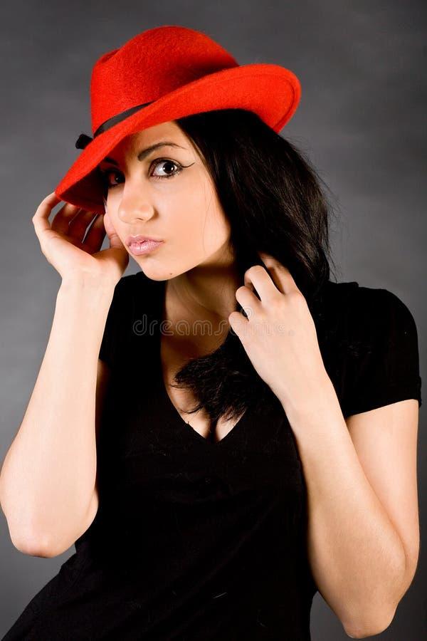 Retrato da forma de uma menina imagem de stock