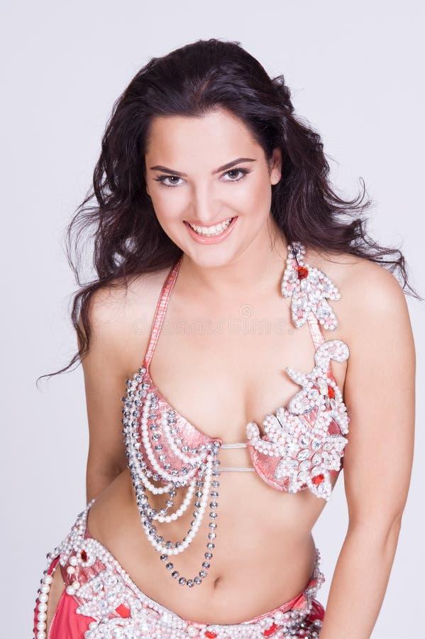 Retrato da forma de uma mulher de sorriso fotos de stock royalty free