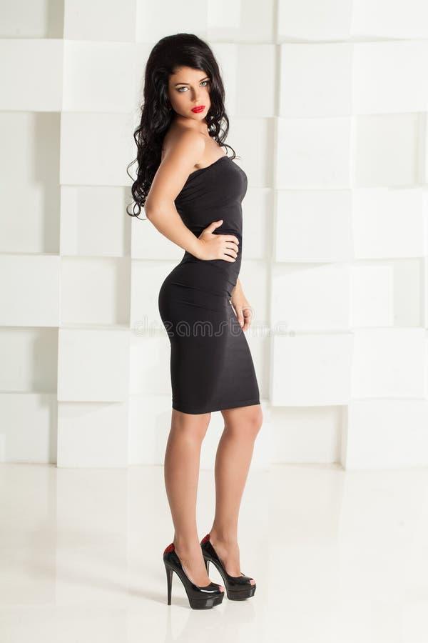 Retrato da forma da mulher triguenha bonita fotos de stock