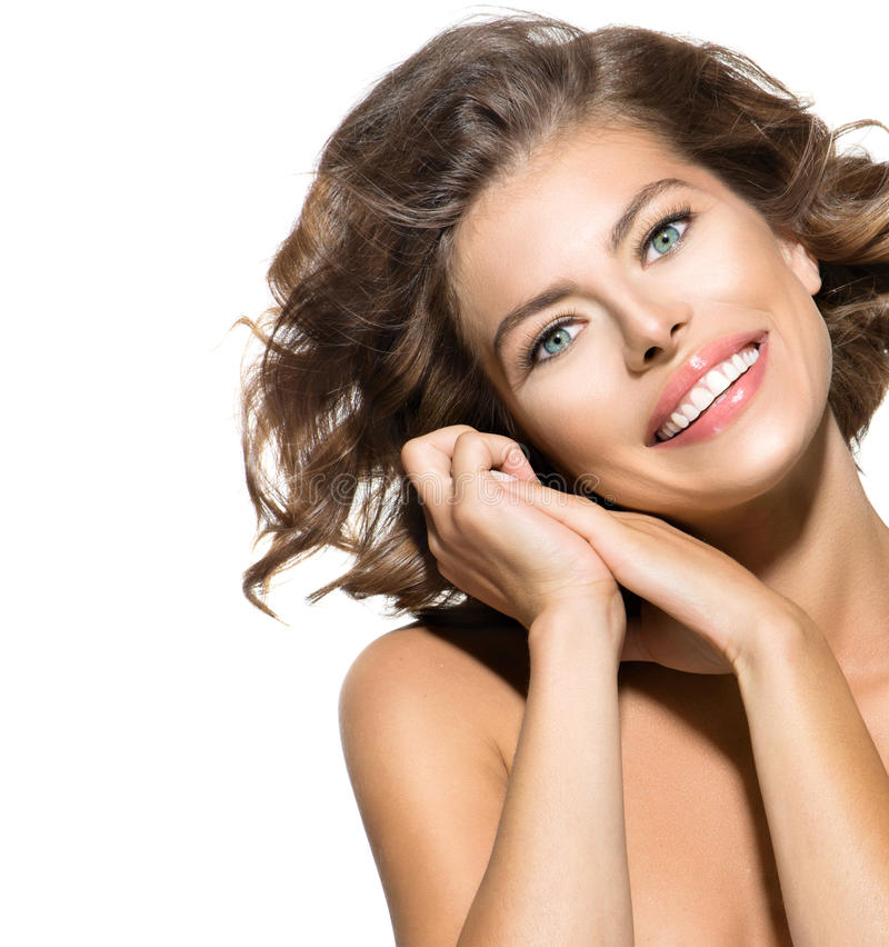 Retrato da jovem mulher fotos de stock