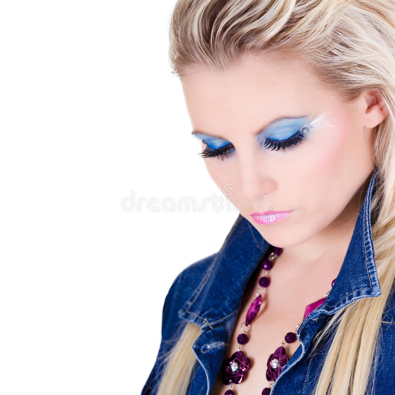 Retrato da jovem mulher bonita imagem de stock royalty free