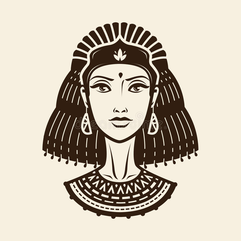 Retrato da jovem mulher bonita, menina no equipamento étnico ilustração do vetor