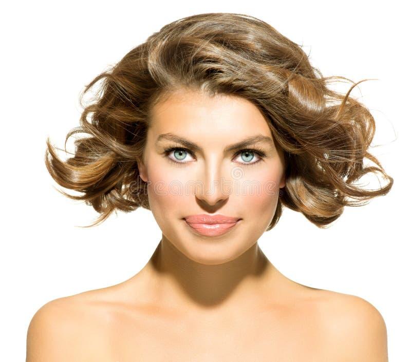 Retrato da jovem mulher da beleza fotos de stock