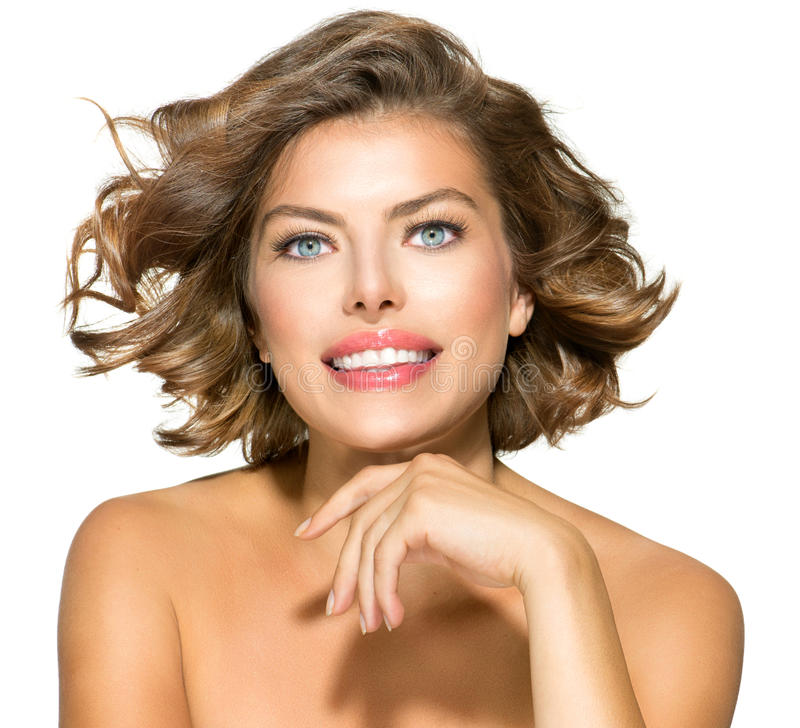 Retrato da jovem mulher da beleza fotografia de stock royalty free