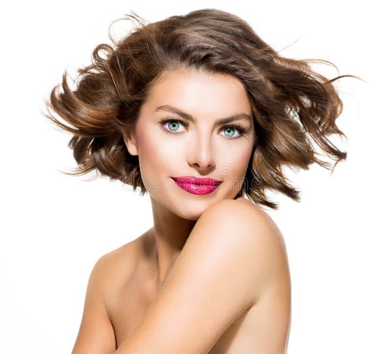 Retrato da jovem mulher da beleza fotografia de stock