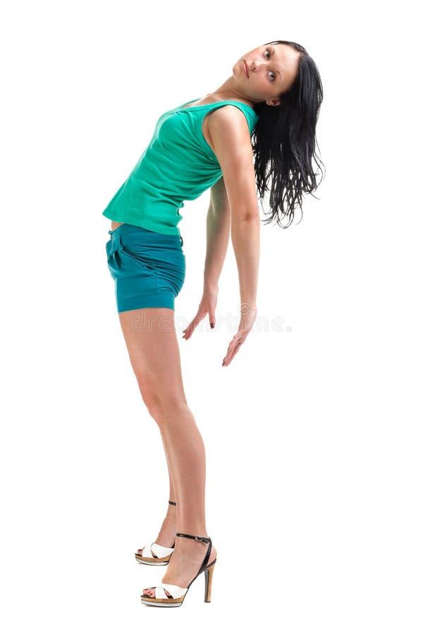 Retrato da jovem mulher 'sexy' isolado no branco foto de stock