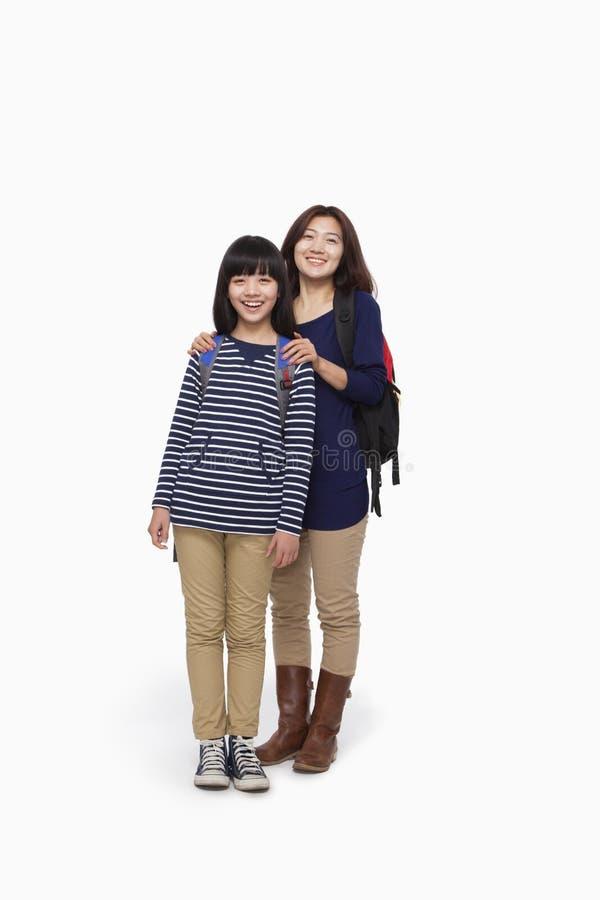Retrato da mãe e da filha fotografia de stock royalty free