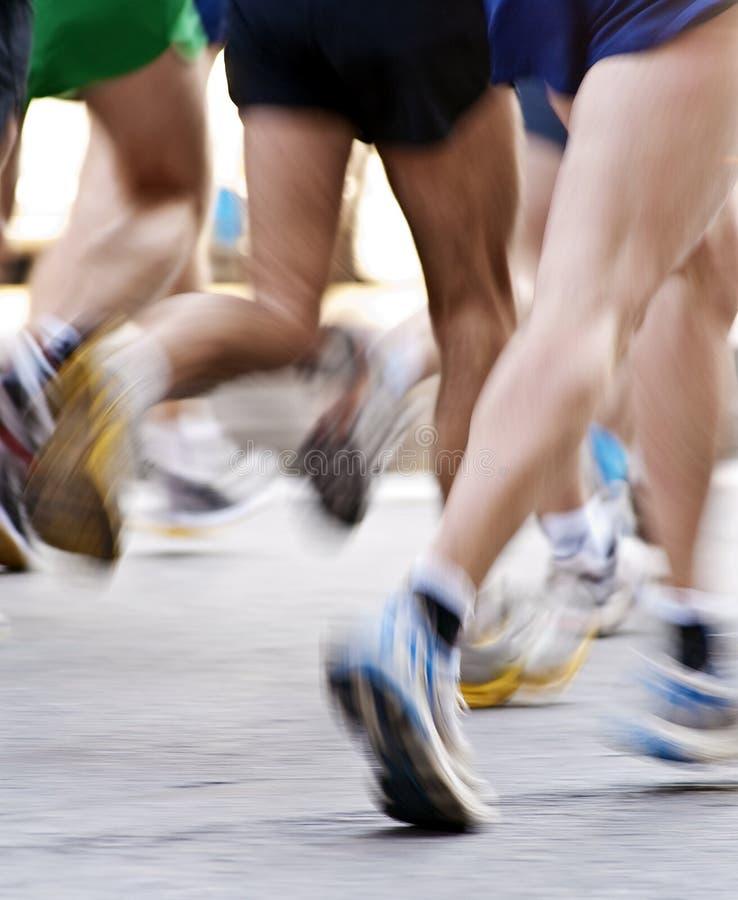 Retrato da maratona imagem de stock royalty free