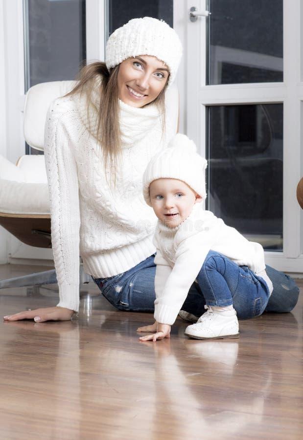 Retrato da matriz com criança fotografia de stock
