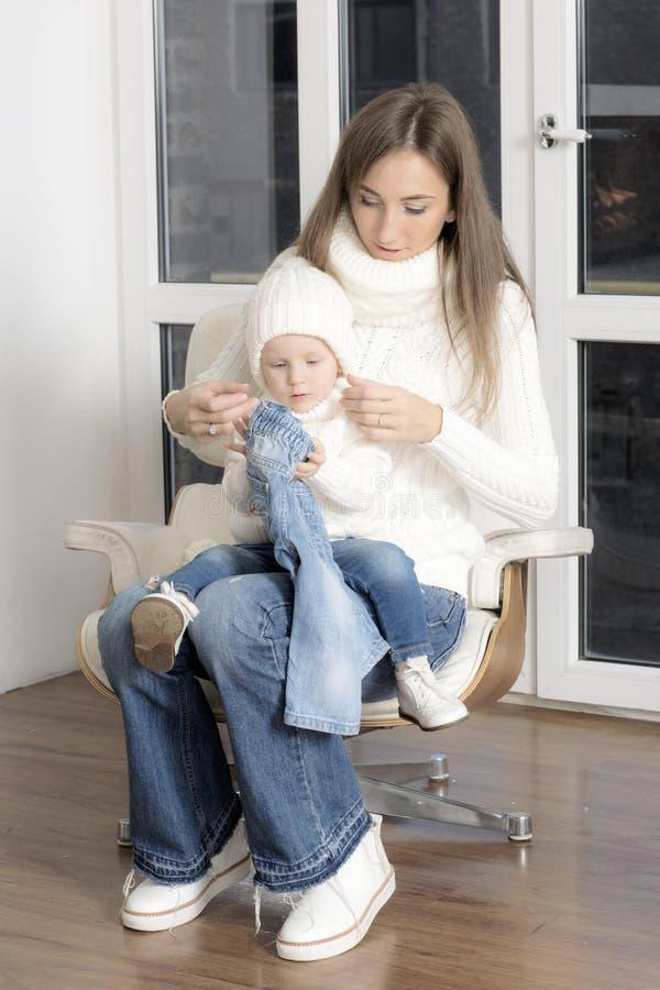 Retrato da matriz com criança imagem de stock