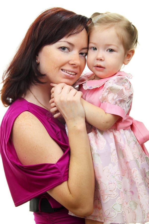 Retrato da matriz feliz com bebê imagens de stock royalty free
