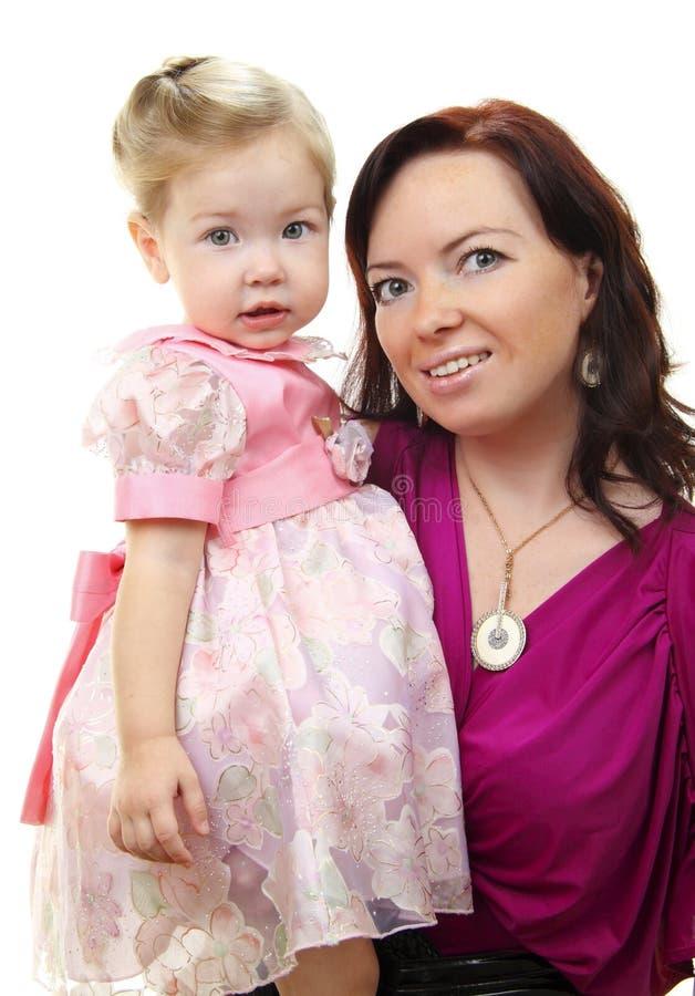 Retrato da matriz feliz com bebê fotos de stock royalty free