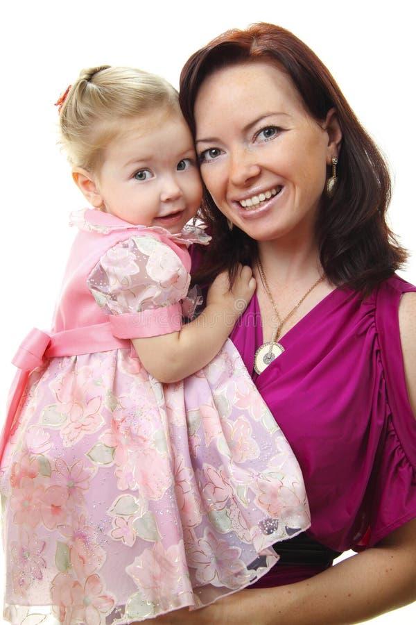 Retrato da matriz feliz com bebê imagem de stock royalty free
