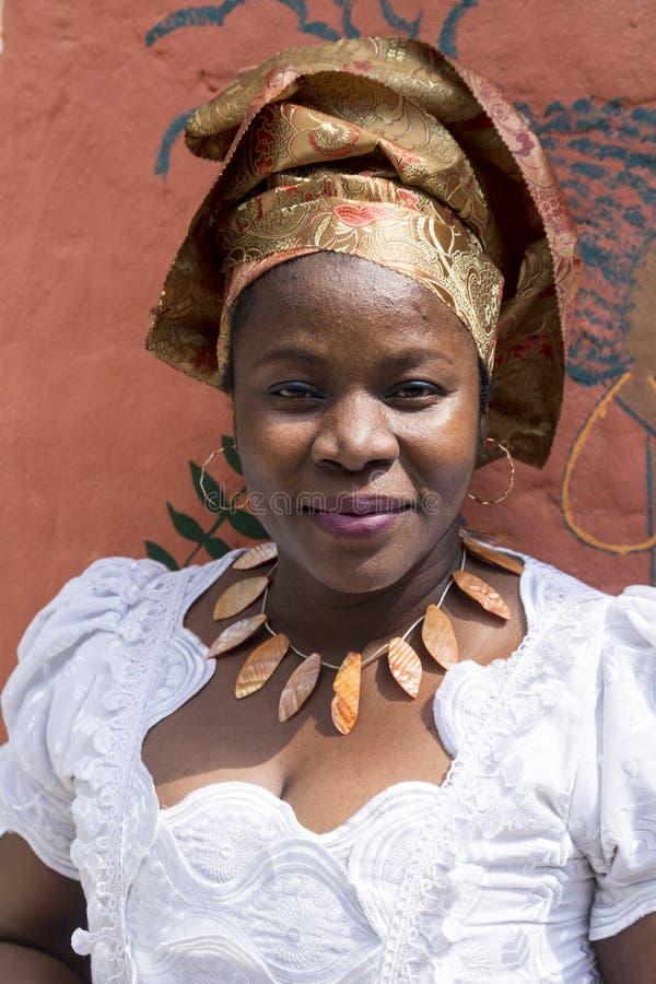 Retrato da menina da África Ocidental imagem de stock