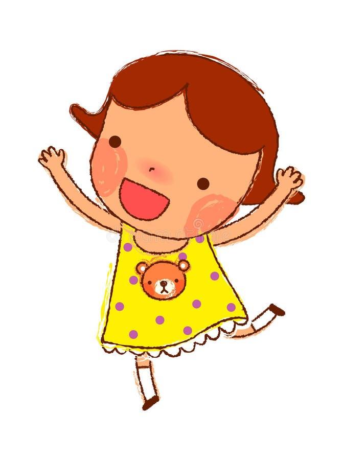 Retrato da menina ilustração royalty free