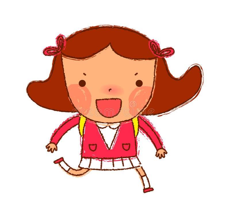 Retrato da menina ilustração stock