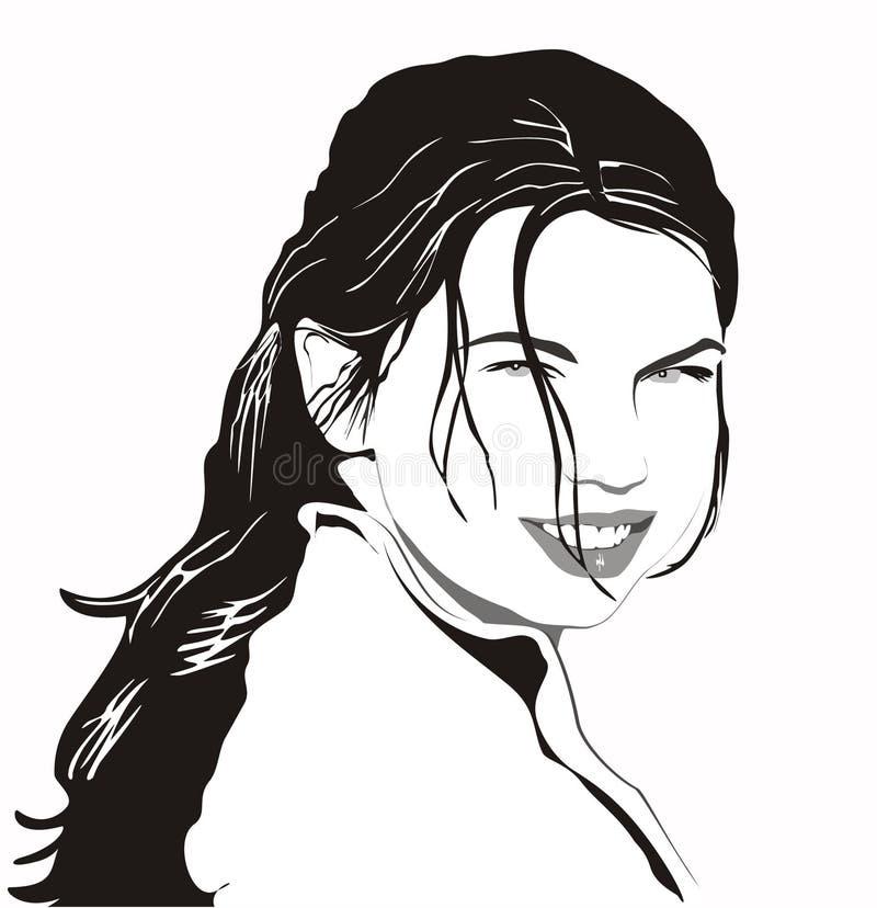 Retrato da menina ilustração do vetor
