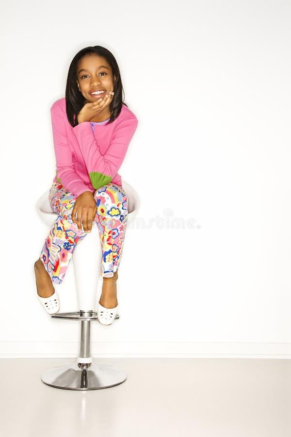 Retrato da menina adolescente. imagens de stock