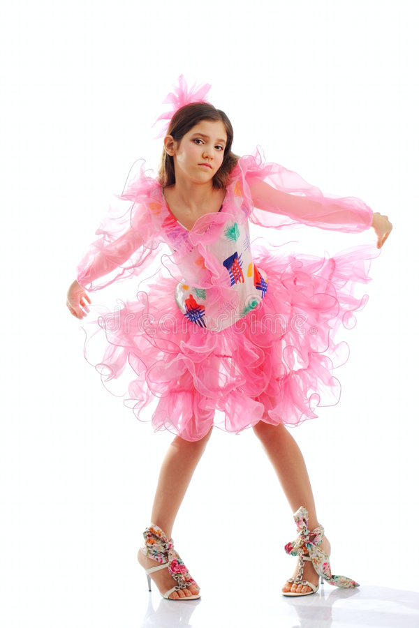 Retrato da menina adolescente bonito da dança foto de stock royalty free