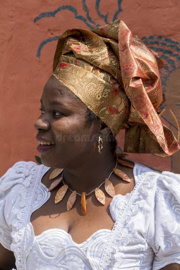Retrato da menina africana imagem de stock