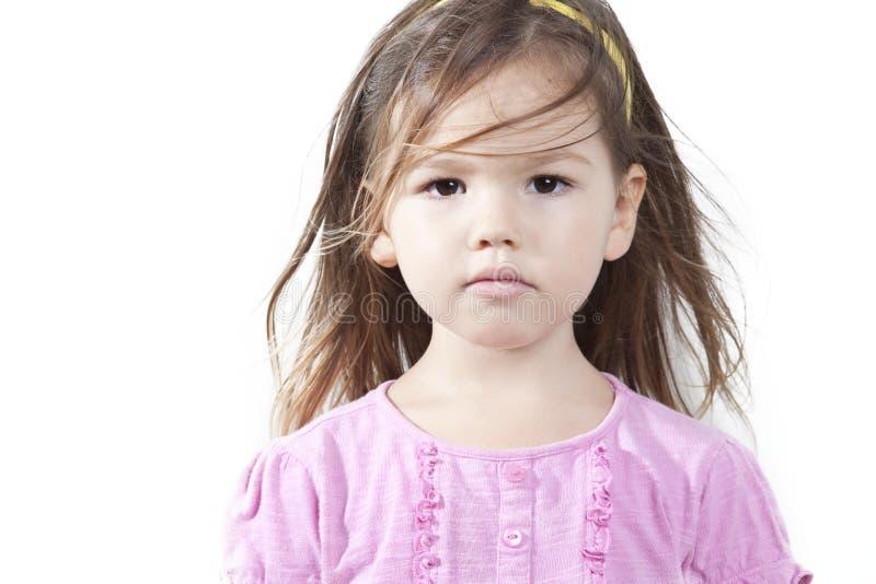 Retrato da menina asiática fotografia de stock