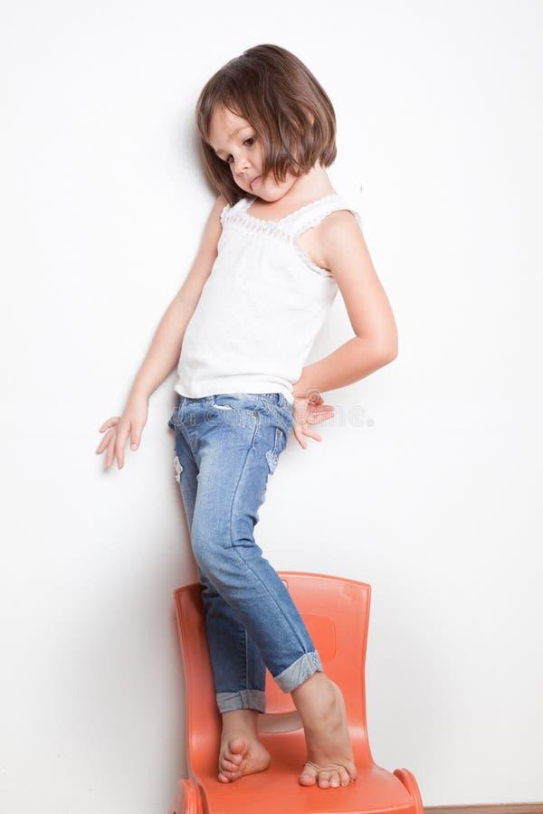 Retrato da menina asiática pequena imagem de stock royalty free