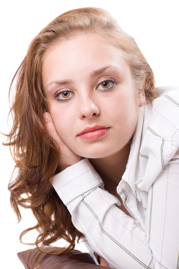 Retrato da menina bonita. #2 foto de stock royalty free