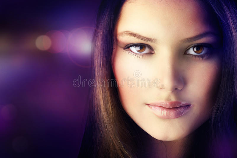 Retrato da menina bonita da forma imagem de stock royalty free