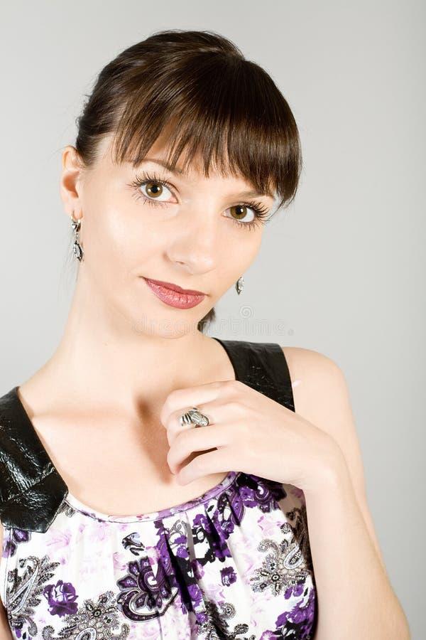 Retrato da menina bonita nova foto de stock royalty free